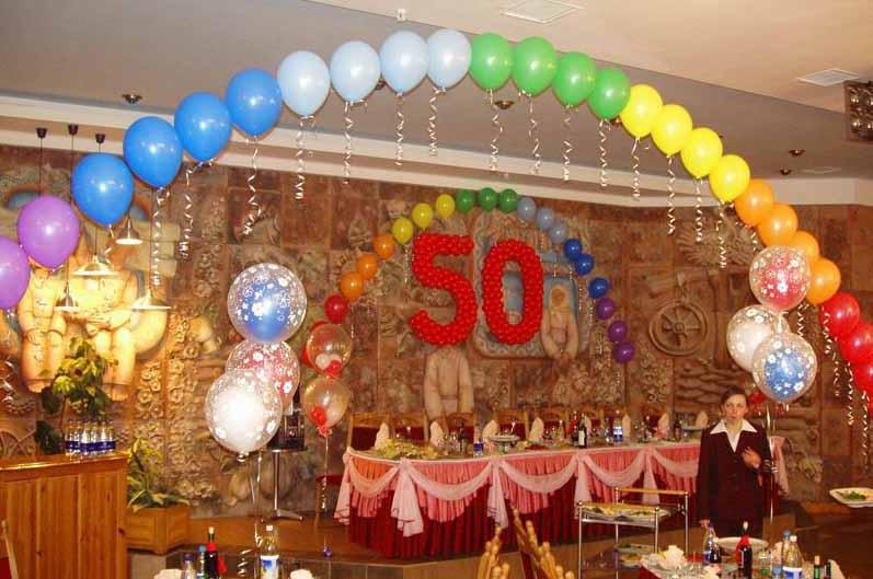 Оформление зала на юбилей 50 лет своими руками мужчине 16
