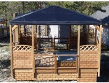 Открытая беседка с брезентовой крышей 4х4 м, цена - 239 400 руб.