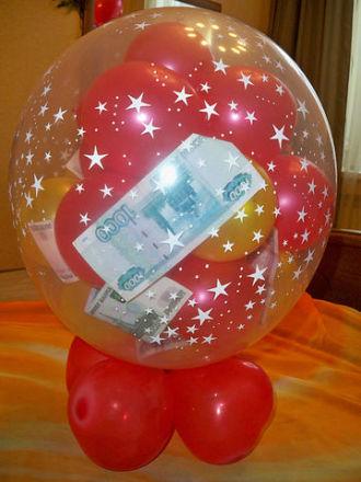 Воздушные шары поздравления внутри