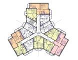Экспликация 3 этажа корпуса Трехлистник