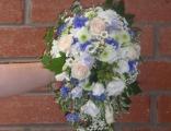 Каскадные букеты невесты