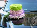 Свадебное оформление машин цветами