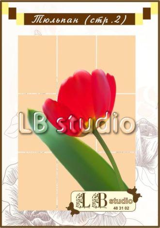 """""""Тюльпан"""" полноцветная наклейка"""