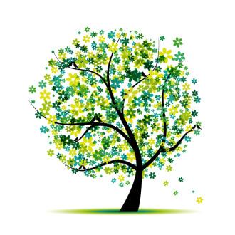 """""""Дерево в цветах"""", цена за 1 кв. м."""