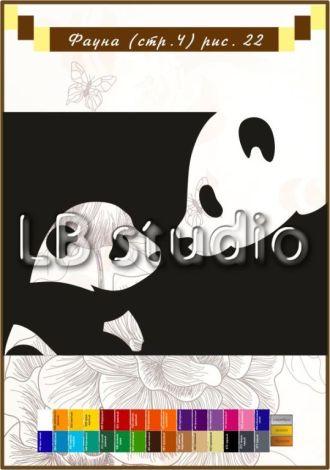 """""""Панда с детенышем"""" № 22"""