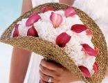 Букет невесты в виде веера