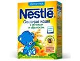 Nestle «Овсяная с яблоком и абрикосом» мол., с 5 мес 250 гр