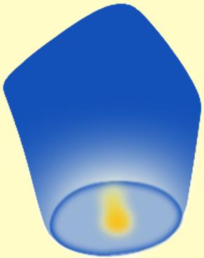 Небесный фонарик конус