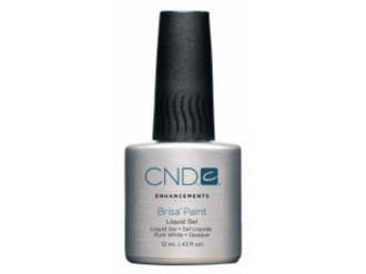 CND Brisa Paint Pure White Opaque, 12мл Белая гелевая краска.