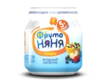 ФрутоНяНя «ЯГОДНЫЙ САЛАТИК» без сахара, с 5 мес (100гр)