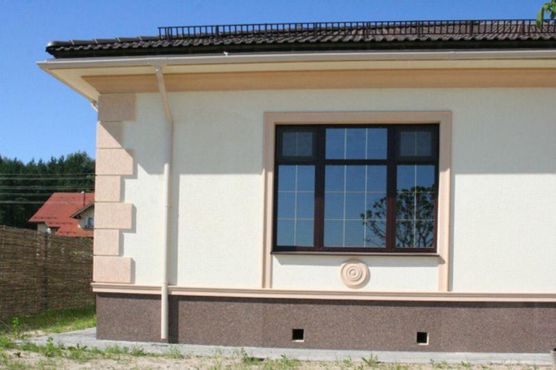 Фото фасадов домов пенопластом своими руками