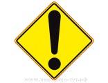 """Знак на авто - """"Восклицательный знак!"""" для начинающих водителей, для тех, кто 1-ый год за рулем."""