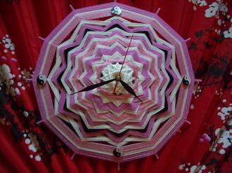 """Часы """"Цветущая сакура"""""""