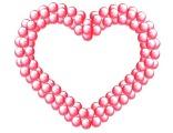 Сердце плетеное на каркасе