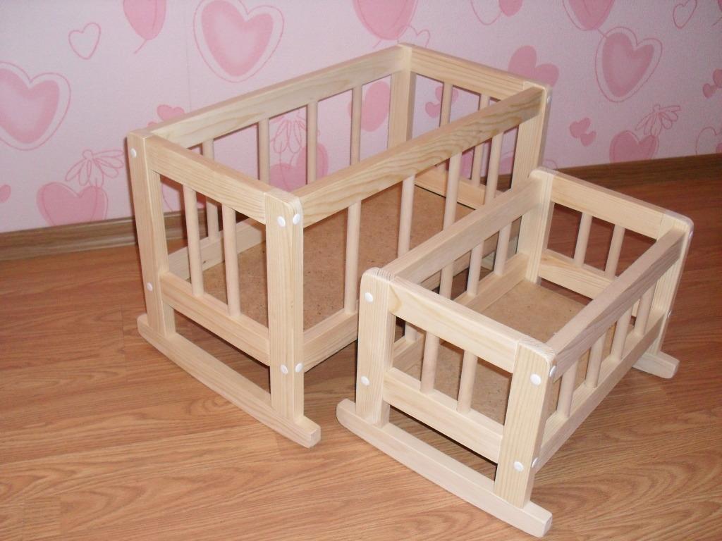 Кроватки для куклы из дерева своими руками