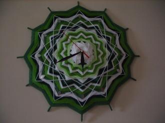 """Часы-мандала """"Время весны"""""""