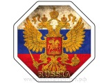 Наклейка на авто герб России с двухглавым орлом (от 60 руб.). Российская символика, на стекло флаг