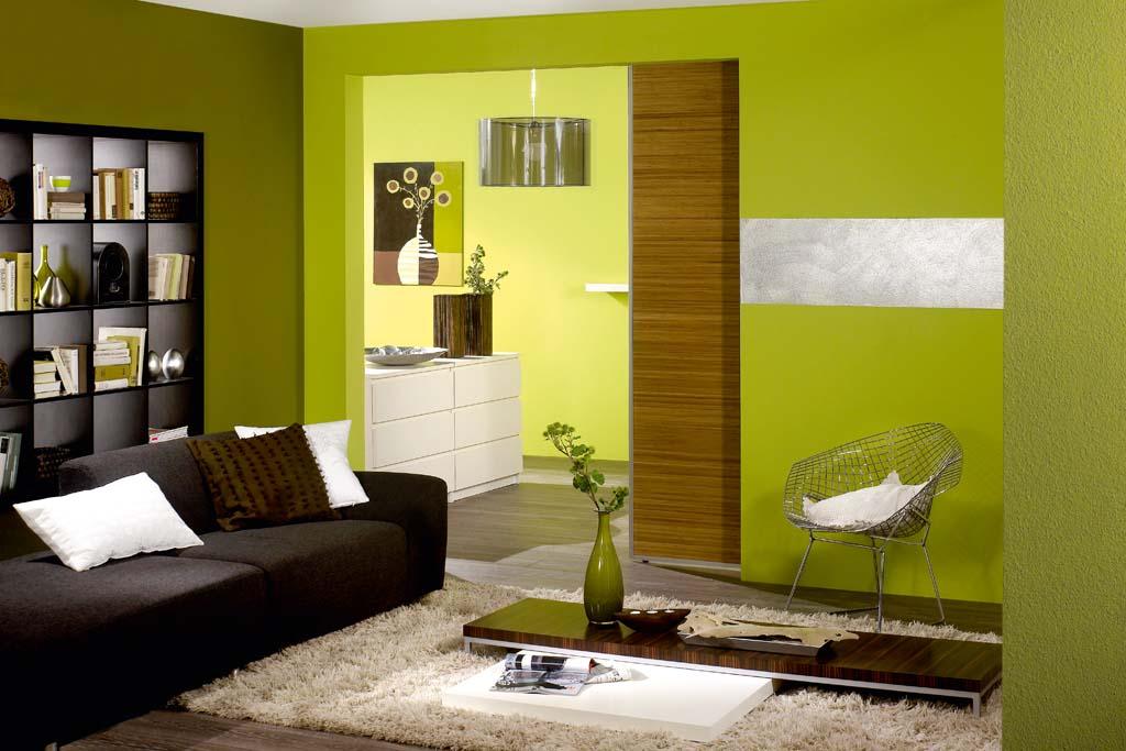 Farbgestaltung Wohnzimmer Streifen