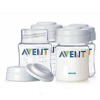 Контейнеры для хранения грудного молока Avent 125 мл, 4 шт