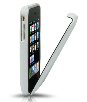 Кожаный чехол Melkco Leather Case for Apple iPhone 3GS/3G - Jacka Type (White LC)