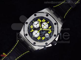 Royal oak Offshore Ultimate Edition Jalan Bukit Bintang Titanium on Black Leather Strap