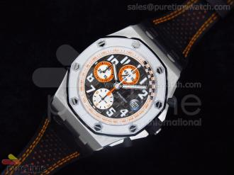 Royal Oak Offshore Ultimate Edition Tour Auto 2010 on Black Leather Strap