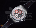 Royal Oak Offshore Ultimate Edition Tour Auto on Black Leather Strap