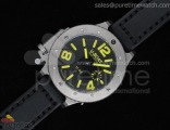 U-42 54mm Diver Stainless Black/Yellow