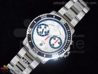 Maxi Marine Chrono White Steel